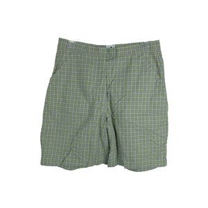 Adidas /12 Cotton Blend Plaid Yellow Shorts